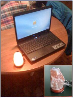 USB Himalayan Salt Lamp at Santa Cruz Holistics
